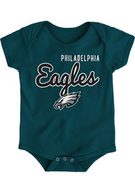 Philadelphia Eagles Baby Midnight Green Big Game One Piece