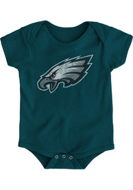 Philadelphia Eagles Baby Midnight Green Distressed Primary One Piece
