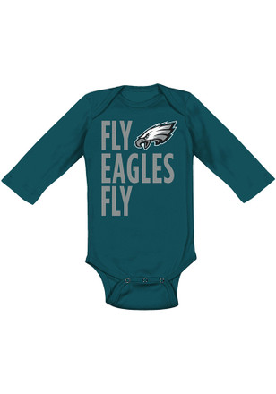 Philadelphia Eagles Baby Midnight Green Fly Eagles Fly Creeper