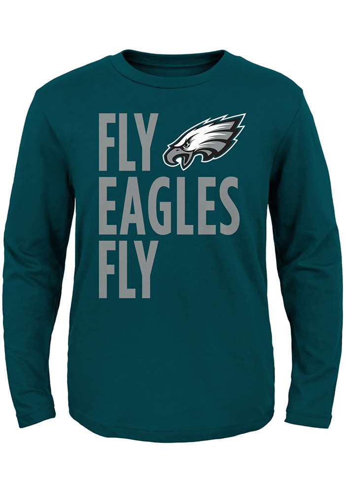 Philadelphia Eagles Toddler Midnight Green Fly Eagles Fly Long Sleeve T-Shirt - Image 1
