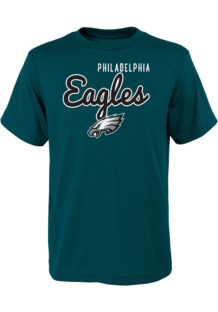 Philadelphia Eagles Youth Midnight Green Big Game Short Sleeve T-Shirt - Image 1