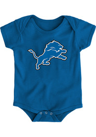 Detroit Lions Baby Blue Primary Logo One Piece