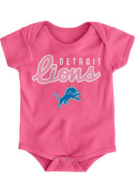 Detroit Lions Baby Pink Big Game One Piece