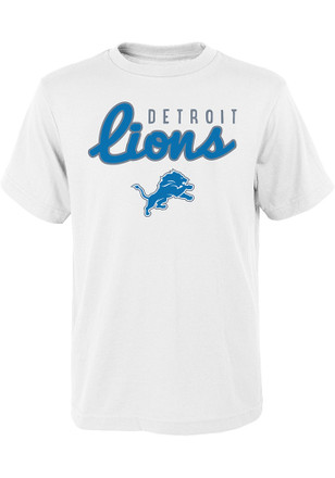 Detroit Lions Youth White Big Game T-Shirt