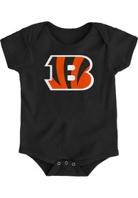 Cincinnati Bengals Baby Black Primary Logo B One Piece