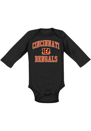 Cincinnati Bengals Baby Black #1 Design B Creeper