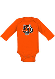 Cincinnati Bengals Baby Orange Primary Logo Bengals One Piece