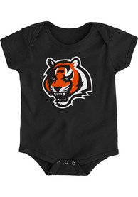 Cincinnati Bengals Baby Black Primary Logo Bengals One Piece