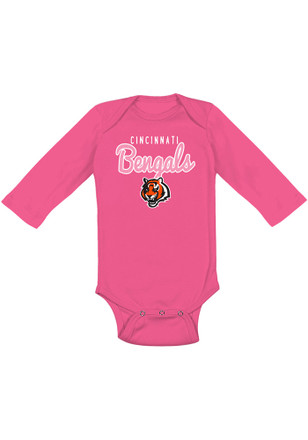 Cincinnati Bengals Baby Pink Big Game LS One Piece