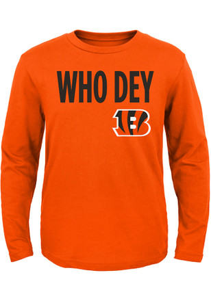 Cincinnati Bengals Toddler Orange Who Dey T-Shirt