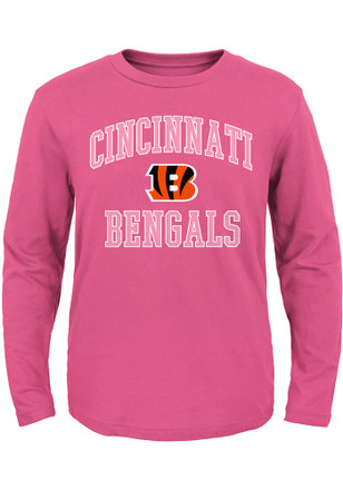 Cincinnati Bengals Toddler Girls Pink #1 Design B T Shirt