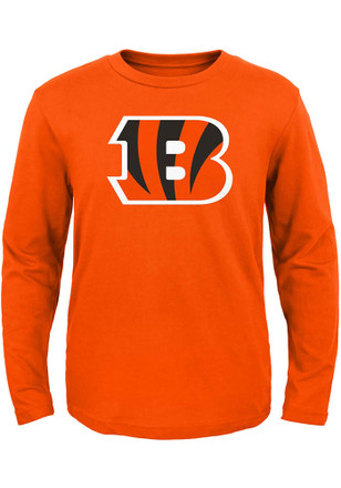 Cincinnati Bengals Boys Orange Primary Logo B T-Shirt