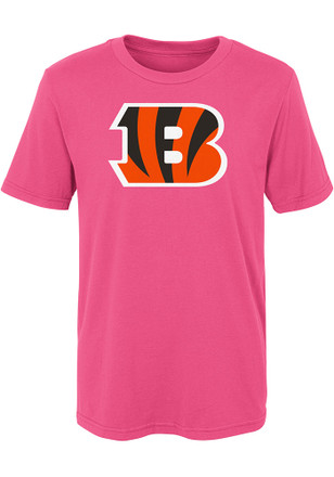 Cincinnati Bengals Girls Pink Primary Logo B T-Shirt
