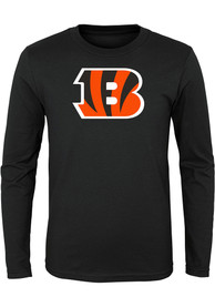 Cincinnati Bengals Youth Black Primary Logo B T-Shirt