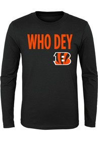 Cincinnati Bengals Youth Black Who Dey T-Shirt