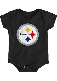 Pittsburgh Steelers Baby Black Primary Logo One Piece