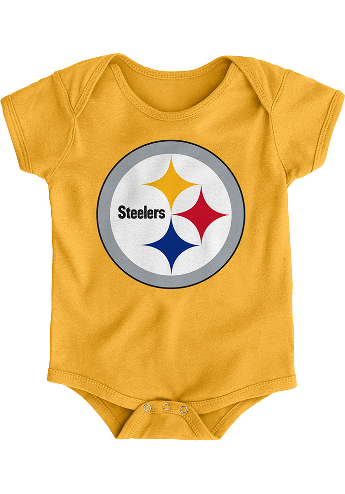 Pittsburgh Steelers Baby Gold Primary Logo One Piece c16899ab9