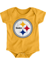 Pittsburgh Steelers Baby Gold Primary Logo One Piece