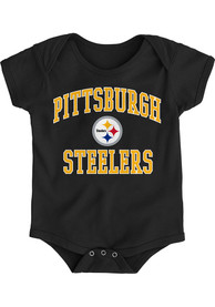 Pittsburgh Steelers Baby Black #1 Design One Piece