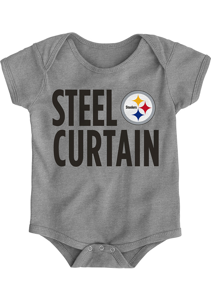 Pittsburgh Steelers Baby Grey Steel Curtain One Piece