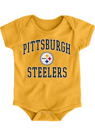 Pittsburgh Steelers Baby Gold #1 Design One Piece