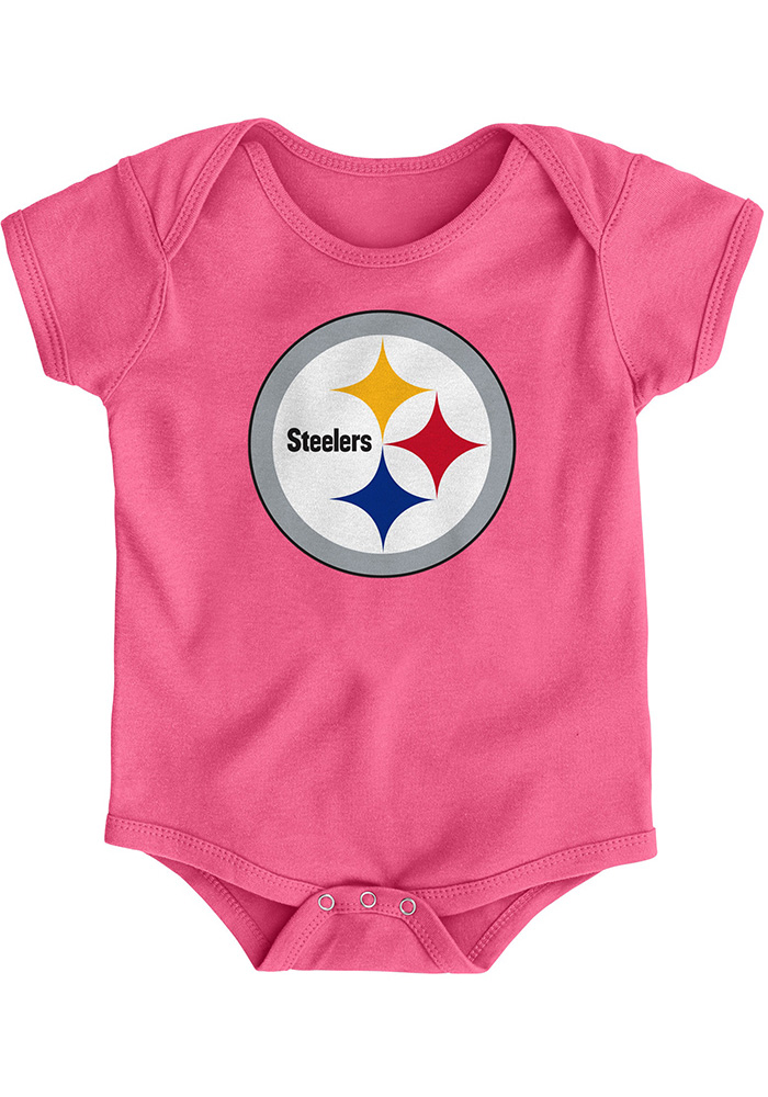 Pittsburgh Steelers Baby Pink Primary Logo One Piece 30a9cdd64