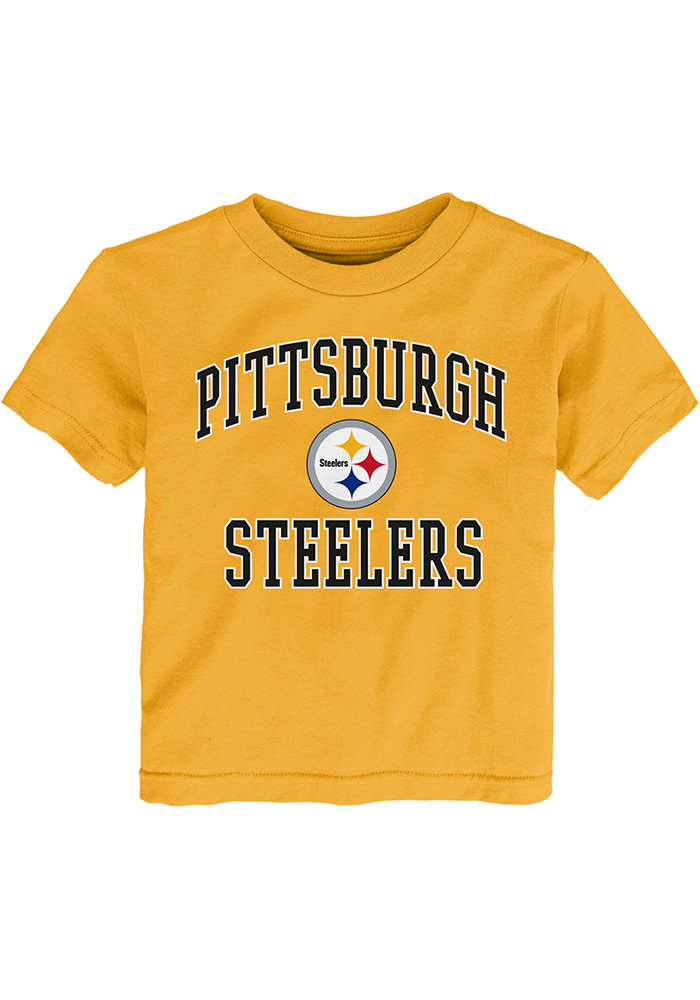 Pittsburgh Steelers Toddler Gold 1 Design Short Sleeve T