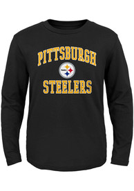 Pittsburgh Steelers Boys Black #1 Design T-Shirt