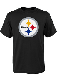 Pittsburgh Steelers Youth Black Primary Logo T-Shirt