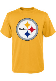 Pittsburgh Steelers Youth Gold Primary Logo T-Shirt