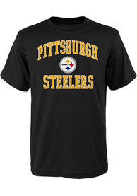 Pittsburgh Steelers Youth Black #1 Design T-Shirt