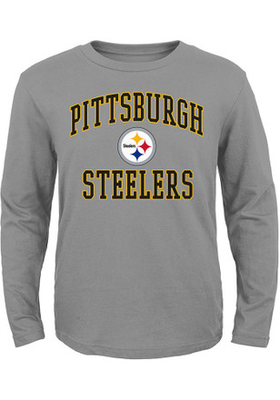 Pittsburgh Steelers Youth Grey #1 Design T-Shirt
