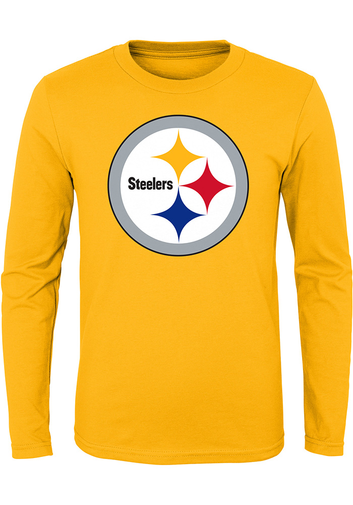 Pittsburgh Steelers Youth Gold Primary Logo T-Shirt 65fbc0d45