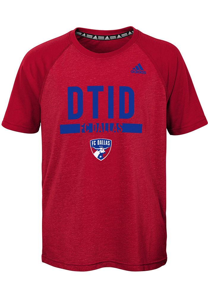 FC Dallas Youth Red Recovery Short Sleeve T-Shirt - Image 1