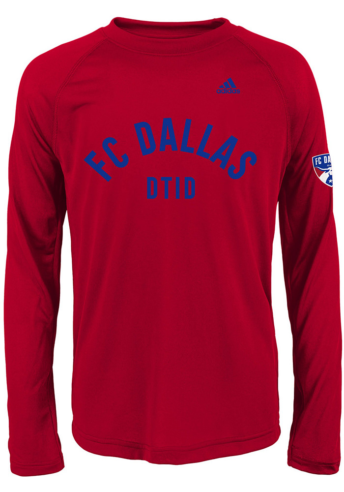 FC Dallas Youth Red Squared Ring Long Sleeve T-Shirt - Image 1