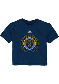 Philadelphia Union Infant Primary T-Shirt - Navy Blue