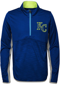 Kansas City Royals Youth Excellence Quarter Zip - Blue