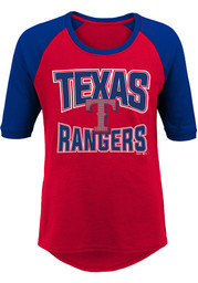 Texas Rangers Girls Red Bases Loaded LS Tee