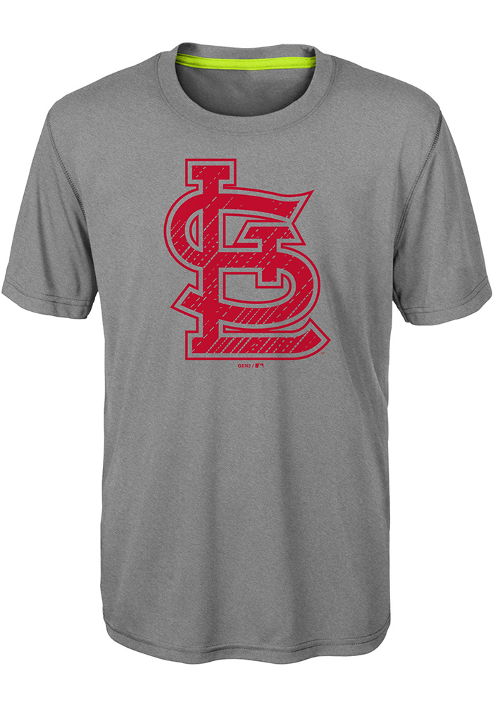 St Louis Cardinals Youth Grey Reigning Champs Short Sleeve T-Shirt - Image 1