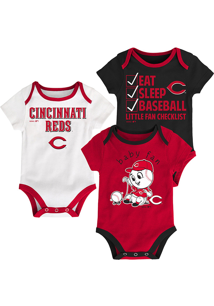 Cincinnati Reds Baby Red Play Ball One Piece - Image 1