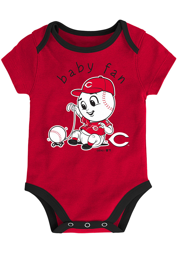 Cincinnati Reds Baby Red Play Ball One Piece - Image 2