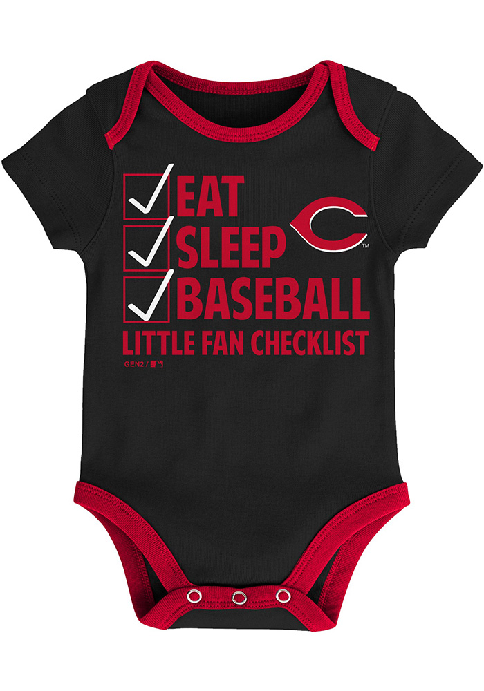 Cincinnati Reds Baby Red Play Ball One Piece - Image 3