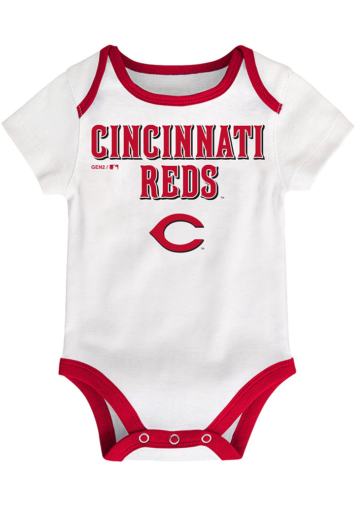 Cincinnati Reds Baby Red Play Ball One Piece - Image 4