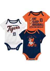 Detroit Tigers Baby Navy Blue Play Ball One Piece