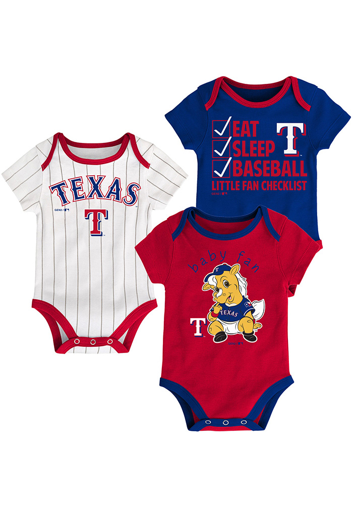 Texas Rangers Baby Red Play Ball One Piece - Image 1
