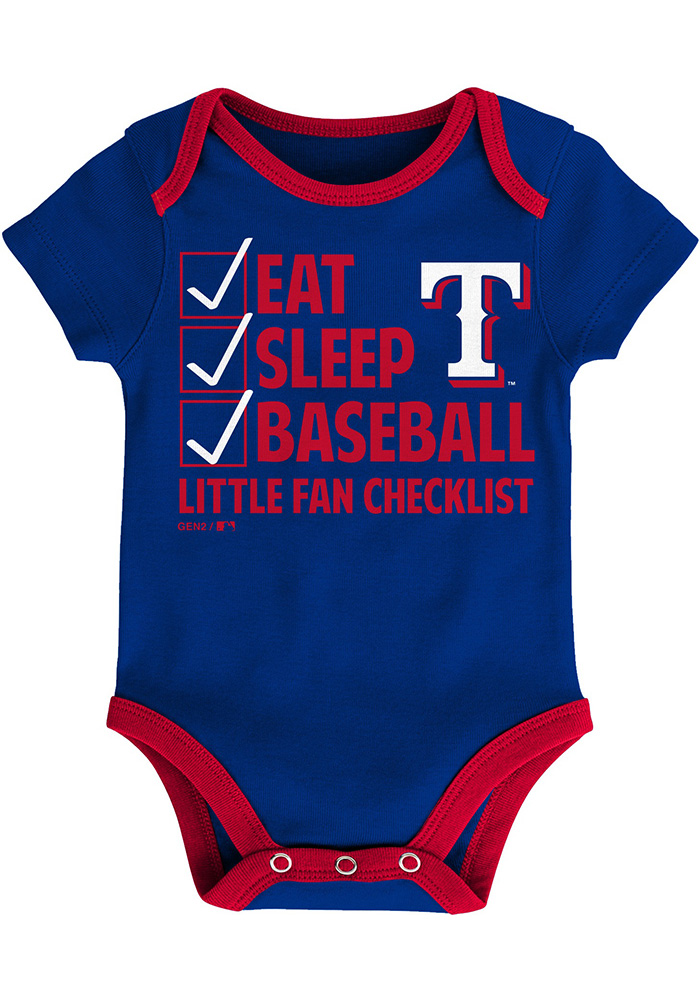 Texas Rangers Baby Red Play Ball One Piece - Image 4