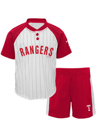 Texas Rangers Toddler Good Hit Top and Bottom - White