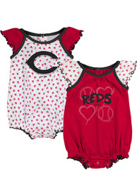 Cincinnati Reds Baby Red Play With Heart One Piece
