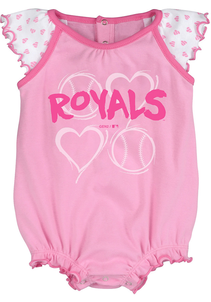 Kansas City Royals Baby Pink Play With Heart Set One Piece - Image 3