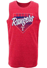Texas Rangers Youth Our Era Tank Top - Red